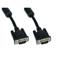 Cables Direct 3m SVGA VGA kabel  - Zwart, Chroom