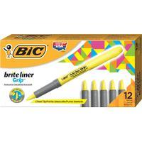 BIC Brite Liner Grip, yellow Markeerstift - Geel