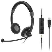 Sennheiser headset: SC 75 USB MS - Zwart