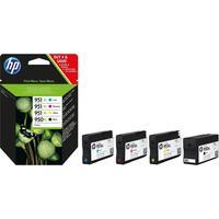 HP inktcartridge: 950XL originele zwarte/951XL cyaan/magenta/gele inktcartridges, 4-pack - Zwart, Cyaan, Magenta, Geel