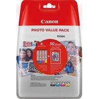 Canon inktcartridge: CLI-571 C/M/Y/BK - Zwart, Cyaan, Geel, Magenta
