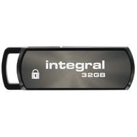 Integral USB flash drive: Secure 360, 32GB - Zwart