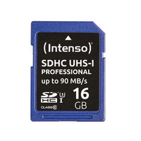 Intenso Professional SDHC-kaart 16 GB Class 10, UHS-I