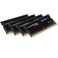HyperX RAM-geheugen: Impact 64GB DDR4 2400MHz Kit - Zwart