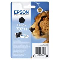 Epson inktcartridge: Singlepack Black T0711 DURABrite Ultra Ink - Zwart