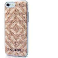 GUESS mobile phone case: TPU case Aztec for Apple iPhone 7 - Beige, Transparant