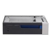 HP papierlade: LaserJet Color LaserJet papierlade voor 500 vel - Zwart, Groen
