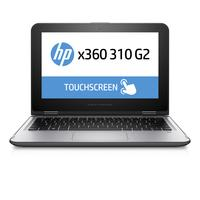HP laptop: x360 310 G2 - Intel Celeron N3050 - 128GB SSD - Zilver