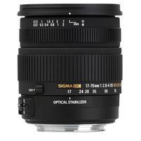 Sigma 17-70mm F2.8-4 DC Macro OS HSM camera lens - Zwart