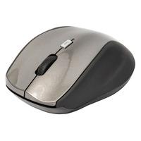 König computermuis: Draadloze desktop-muis met 5 knoppen - Zwart, Grijs