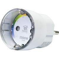Schwaiger stekker-adapter: 1 x Schuko plug, 100 - 230 , 50/60 Hz, Weiß - Wit
