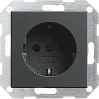 GIRA wandcontactdoos: Wandcontactdoos met randaarde 16 A 250 V~, antraciet