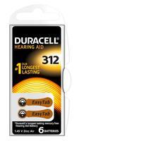 Duracell batterij: Hearing Aid-batterijen maat 312, verpakking van 6