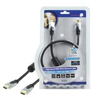 HQ HDMI kabel: 75cm HDMI Ethernet - Zwart