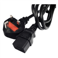 Lantronix electriciteitssnoer: IEC60320/C19 to BS1363, 8Ft - Zwart