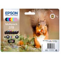 Epson inktcartridge: Multipack 6-colours 378 Claria Photo HD Ink - Zwart, Cyaan, Lichtyaan, Lichtmagenta, Magenta, Geel