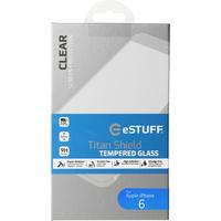 "ESTUFF screen protector: Titan Shield for iPhone 6 4.7"" 9H Tempered Glass 0,33 mm - Transparant"