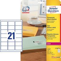 Avery Zweckform L7560-25 etiket - Transparant
