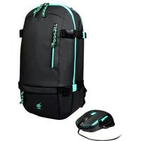 PORT DESIGNS computermuis: 6buttons, 800 - 2400DPI, LED, 120g, backpack - Zwart, Blauw