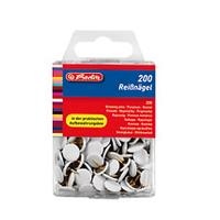 Herlitz punaise: Вrawing pin white 200pcs. - Wit