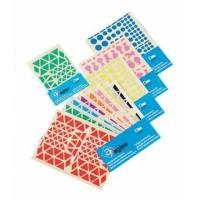 Agipa etiket: Playshapes labels. Circles. 1040 pcs - Multi kleuren