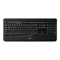 Logitech toetsenbord: K800 - Zwart, QWERTY