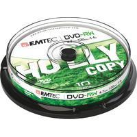 Emtec DVD: DVD-RW, 4.7GB, 1-4x, 10pcs. - Zilver