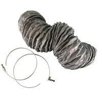 HQ : Ventilation hose +2 klem SE - Zilver