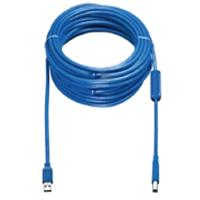 Vaddio USB kabel: USB 3.0 Type A to Type B Active Cable - M/M, 8m - Blauw