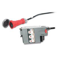 APC energiedistributie: 3 Pole 5 Wire RCD 16A 30mA IEC309