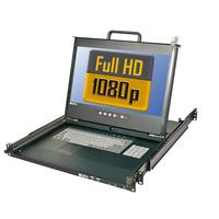 Lindy rack console: 21692 - Zwart, AZERTY
