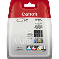 Canon inktcartridge: CLI-551 C/M/Y/BK - Zwart, Cyaan, Geel, Magenta