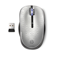 HP computermuis: 2.4GHz Wireless Optical (Silver) Mobile Mouse - Zilver