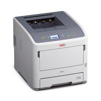 OKI laserprinter: B721dn - Grijs, Wit