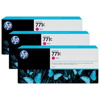 HP inktcartridge: 771C magenta DesignJet inktcartridges, 775 ml, 3-pack