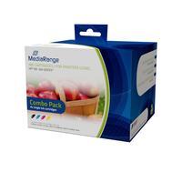 MediaRange inktcartridge: MRHP364 - Zwart, Cyaan, Magenta, Geel