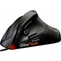 OrthoMouse computermuis: Saddle - Zwart