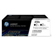 HP toner: 410X 2-pack zwart voor o.a voor LaserJet Pro M452 & M477