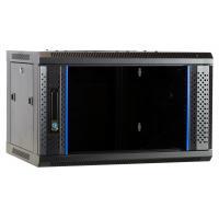 Ds-it rack: 6U wandkast met glazen deur 600x450x368mm