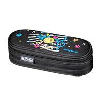 Herlitz potlood case: Pencil pouch square case SmileyWorld Pop - Zwart