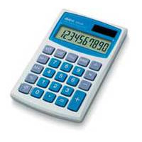 Ibico calculator: 082X - Blauw, Wit