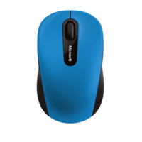 Microsoft computermuis: Bluetooth Mobile Mouse 3600 - Zwart, Blauw