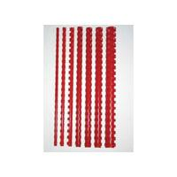 Albyco binding comb or strip: Bindrug 10mm 21r rood/doos 100