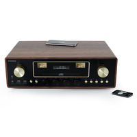 Thomson Lighting Thomson All In One System - Bluetooth/CD/MP3/USB/Inductie - Wood AV-receivers