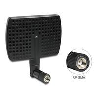 DeLOCK antenne: WLAN antenna RP-SMA 802.11 b/g/n 7 dBi directional joint - Zwart