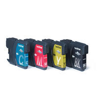 Brother inktcartridge: LC-1100VALBP - 1x zwart, geel, cyaan, magenta - Zwart, Cyaan, Magenta, Geel
