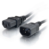 C2G Computer Power Cord Extension - Power extension cable (250 VAC) - IEC 320 EN 60320 C13 - IEC 320 EN 60320 C14 - 1 m