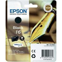 Epson inktcartridge: Singlepack Black 16 DURABrite Ultra Ink - Zwart