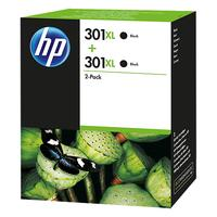 HP inktcartridge: 301XL originele high-capacity zwarte inktcartridges, 2-pack