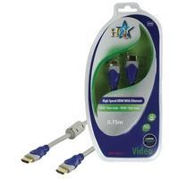HQ HDMI kabel: SV-400-0.7 - Blauw, Grijs